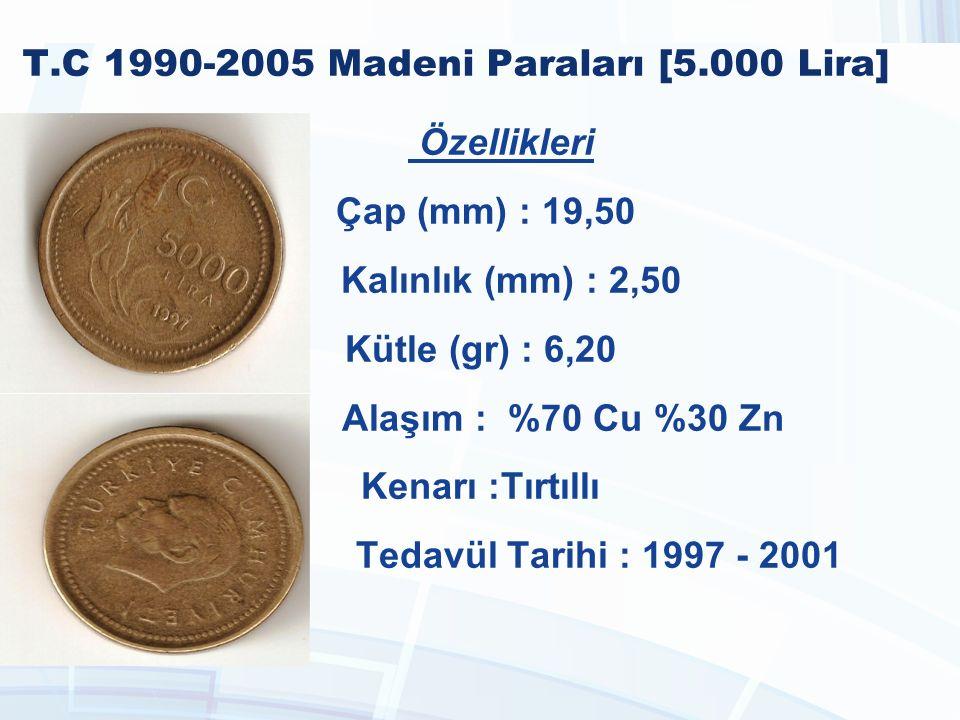 T.C 1990-2005 Madeni Paraları [5.000 Lira]